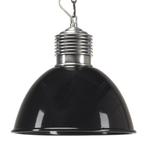 Verlichting Loft Hanglamp Industrie Ø 32 cm - Zwart