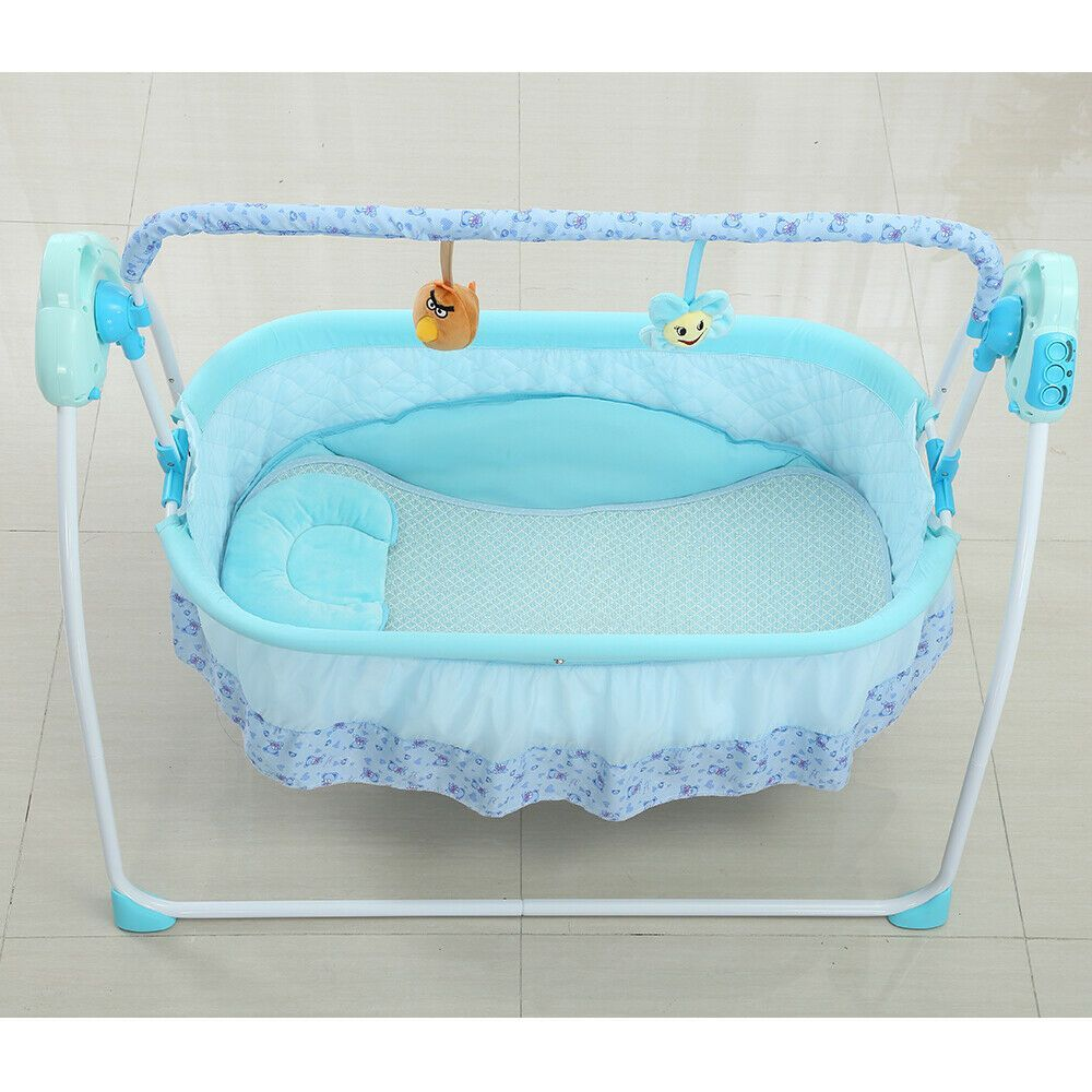 Auto Swing Rocking Cot Sleeping Bed Electric Baby Crib CradleTimer Music Great -...#auto #baby #bed #cot #cradletimer #crib #electric #great #music #rocking #sleeping #swing