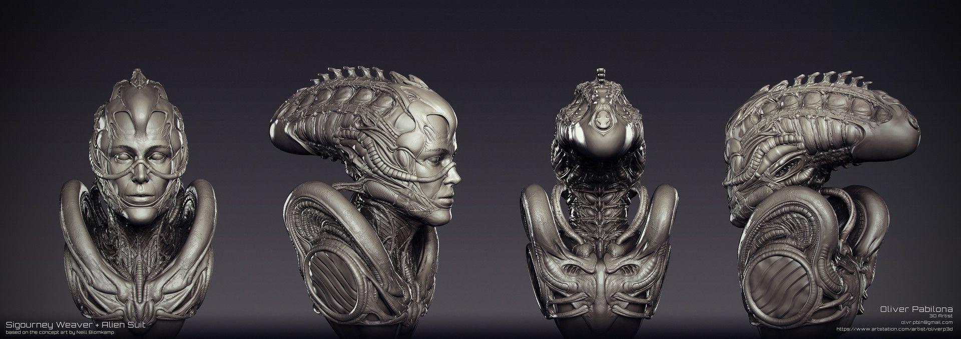 pin de hugo buarque em female creatures cg alien suit