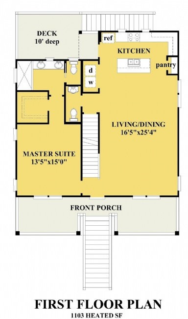 Seaview Cottage Coastal House Plans Cottage House Plans One Bedroom House