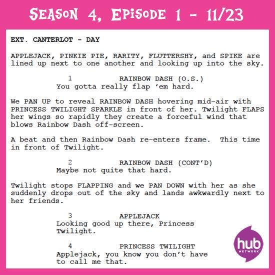 My Little Pony Friendship is Magic : Script for Season 4