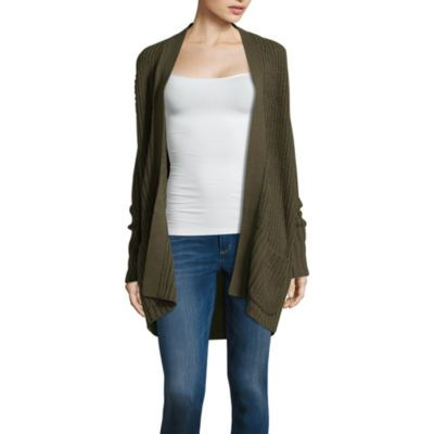 b3703a153bc17 Buy Arizona Lace Up Back Cardigan-Juniors at JCPenney.com today and enjoy  great savings.