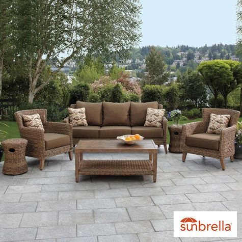 Brown jordan seagrass 6 piece woven seating set garden conservatory furniture furniture for Seagrass living room furniture