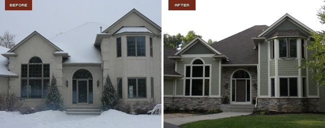 James hardie stucco siding james hardie redesign for Houses with stucco and siding