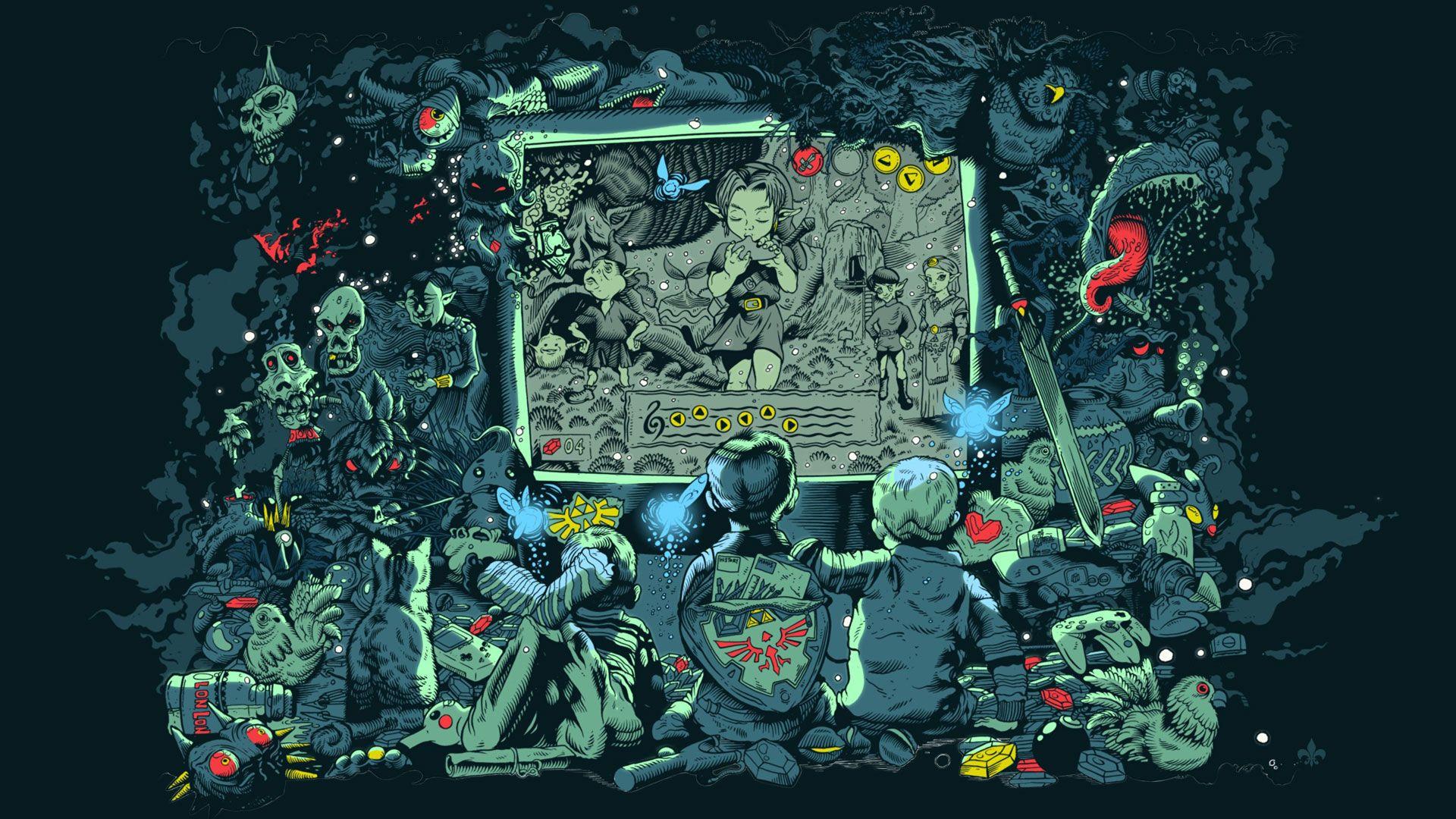 Tim Mcdonagh The Legend Of Zelda Ocarina Of Time Legend Of