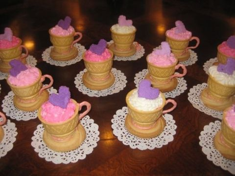 Tea Cup Cone Cupcakes...Over 20 of the BEST Cupcake Ideas for Parties & Bake Sales from KitchenFunWithMy3Sons.com