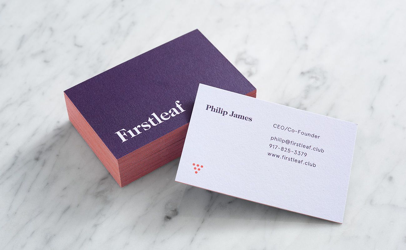 Visual identity and business cards for Firstleaf designed by ...
