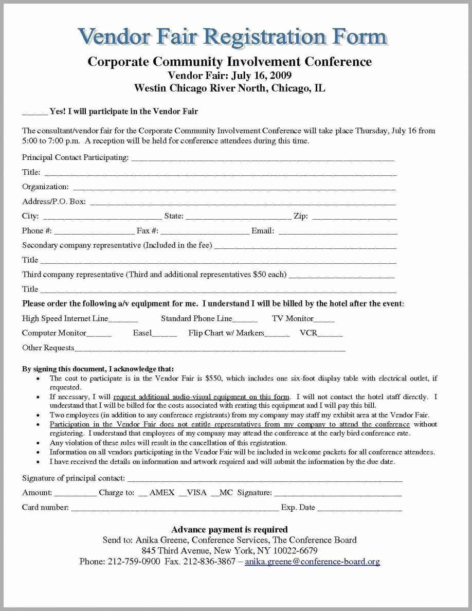 Wedding Vendor Contract Template New Sample Vendor Contract Agreement Contracts Simple Form Business Template Contract Template Registration Form