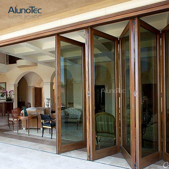 Aluminum Bi-Folding Glass Patio Doors