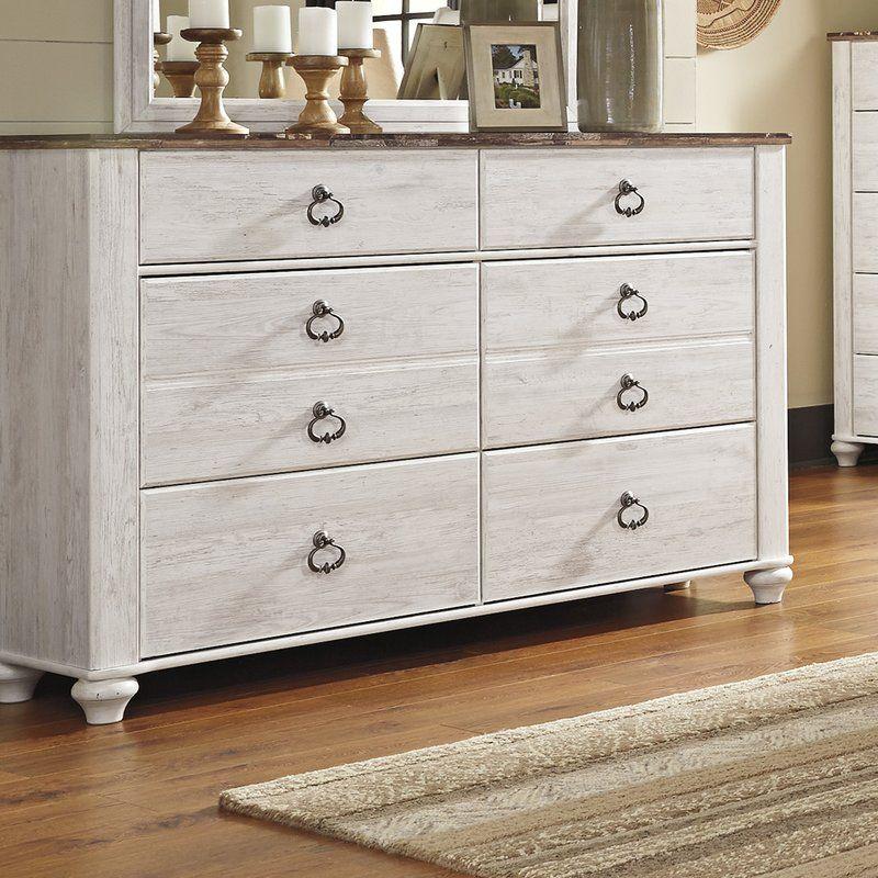 Naples 6 Drawer Double Dresser Dresser, Dresser drawers