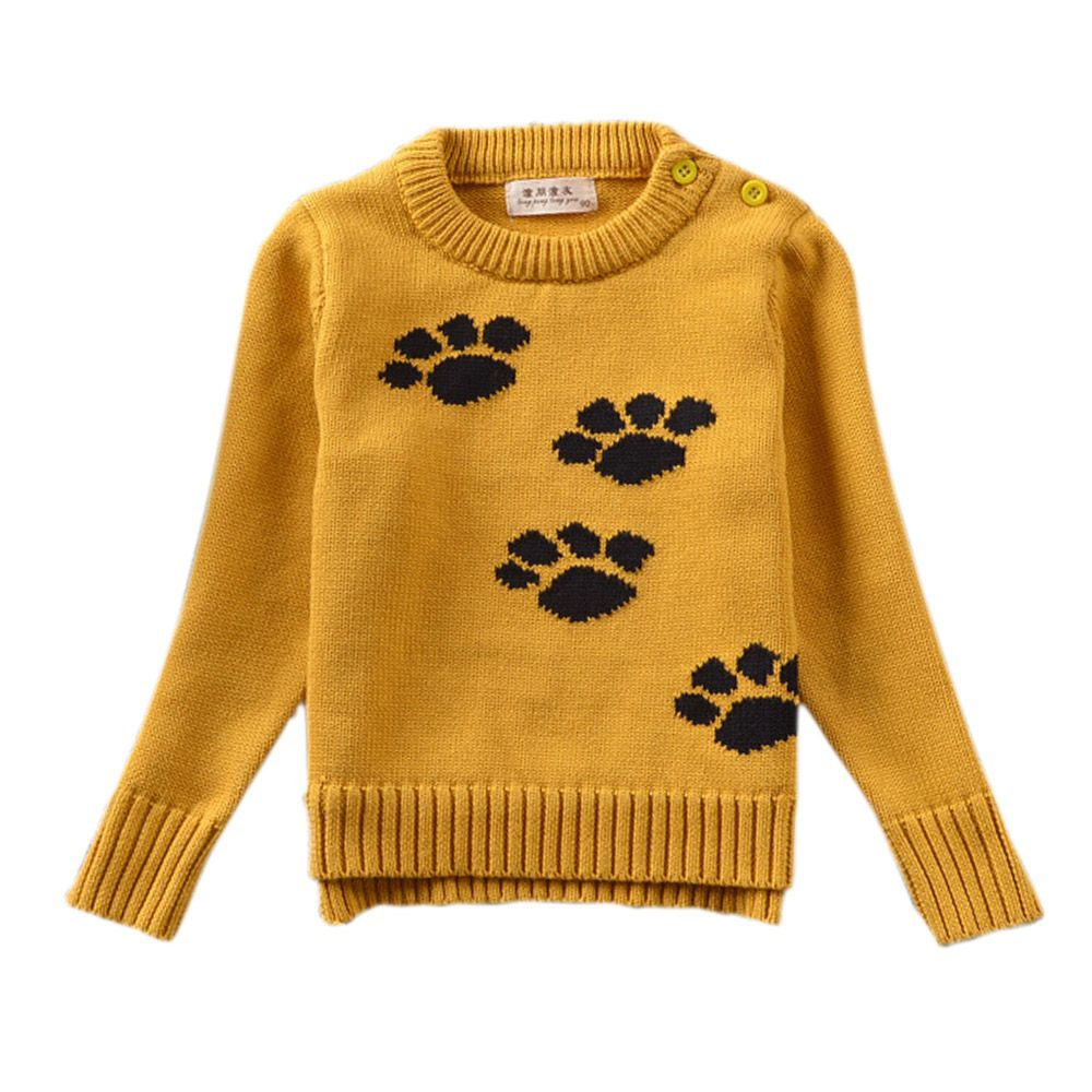 Baby Girl Sweater, Cute Puppy Dog Paws Pullover, Nice