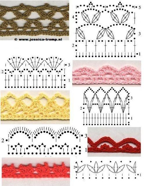 Tying crochet edge | randen en randjes en garnering | Pinterest ...