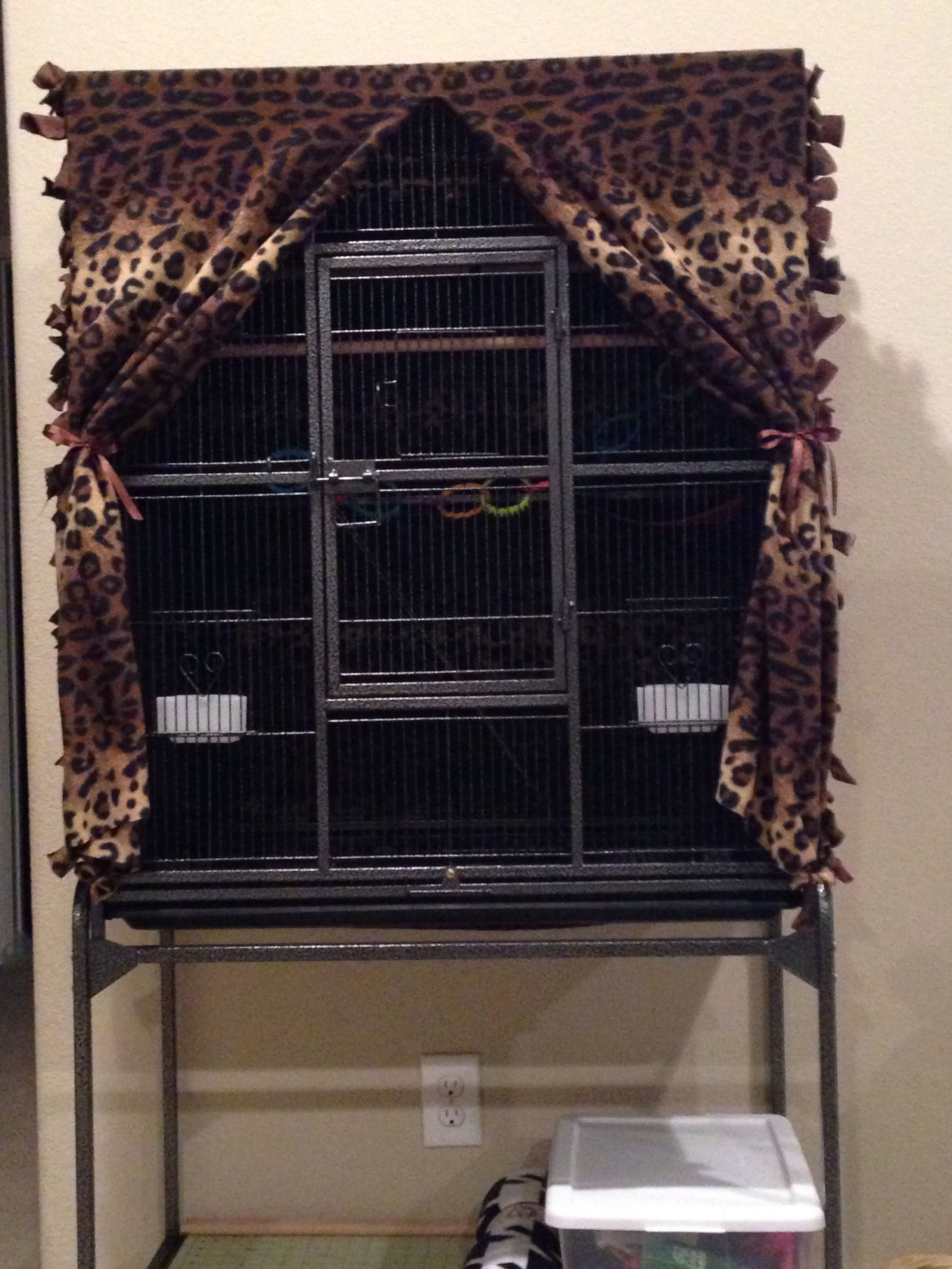 My Hand Made No Sew Sugar Glider Cage Cover I Made All By My