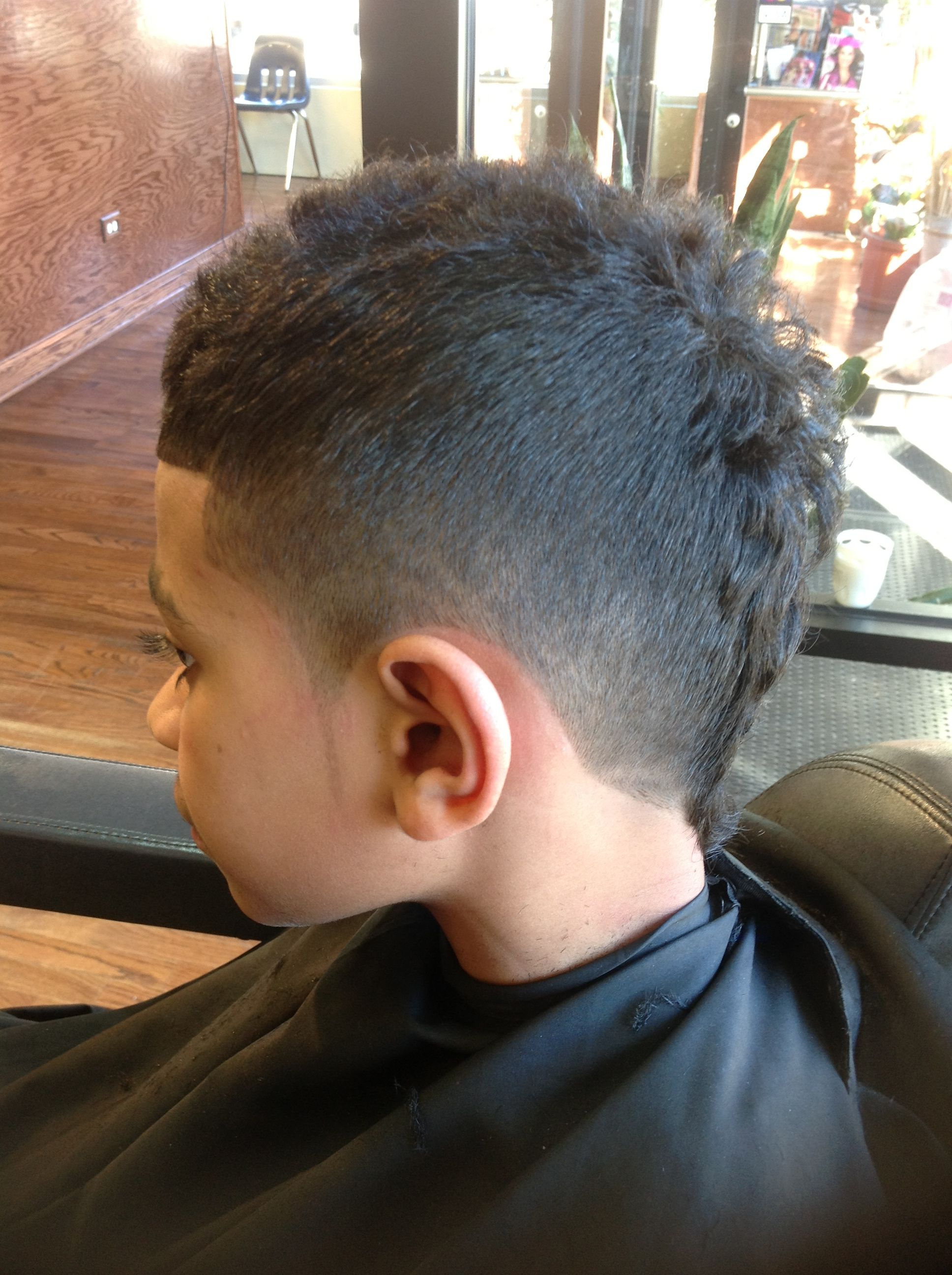 faded mohawk with 3 part design