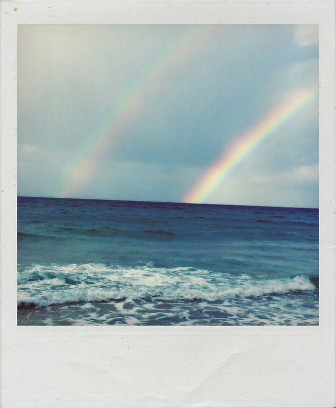 'Double Rainbow Polaroid' Sticker by vinyl-vision