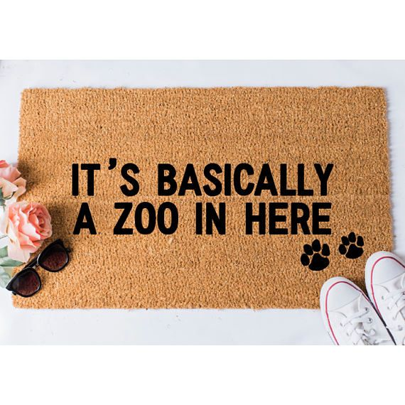 Zoo In Here Doormat Funny Doormat Dog Doormat Dog Lover Gift