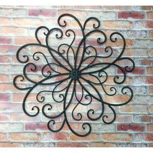 Outdoor Metal Wall Art Hanging Bohemian Decor Faux Wrought Iron Garden A