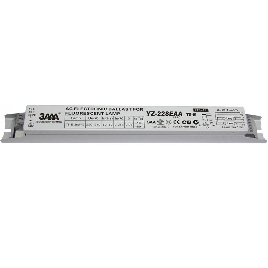 3aaa Yz 228eaa T5 E 220 240v 2 28w T5 Electronic Ballasts For T5 Ho Tube Fluorescent Lamp Free Shipping High Quality Recti Fluorescent Lamp Ballast Fluorescent