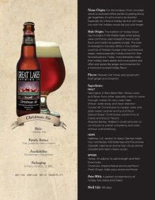 Great Lakes Brewing Company: Christmas Ale - tastes like a savory ...