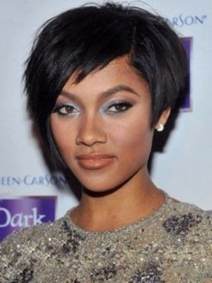 Shinning Short Black African American Wigs For Women In 2018 Hair