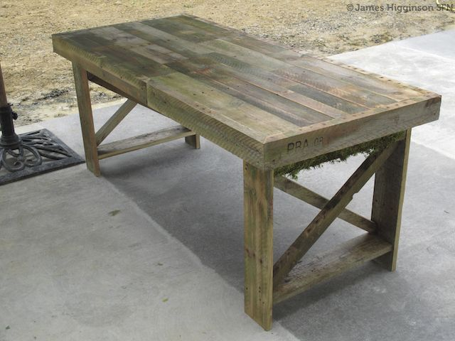 Nyc pallet bar concept on pinterest pallet bar pallet for Dining room tables made from pallets