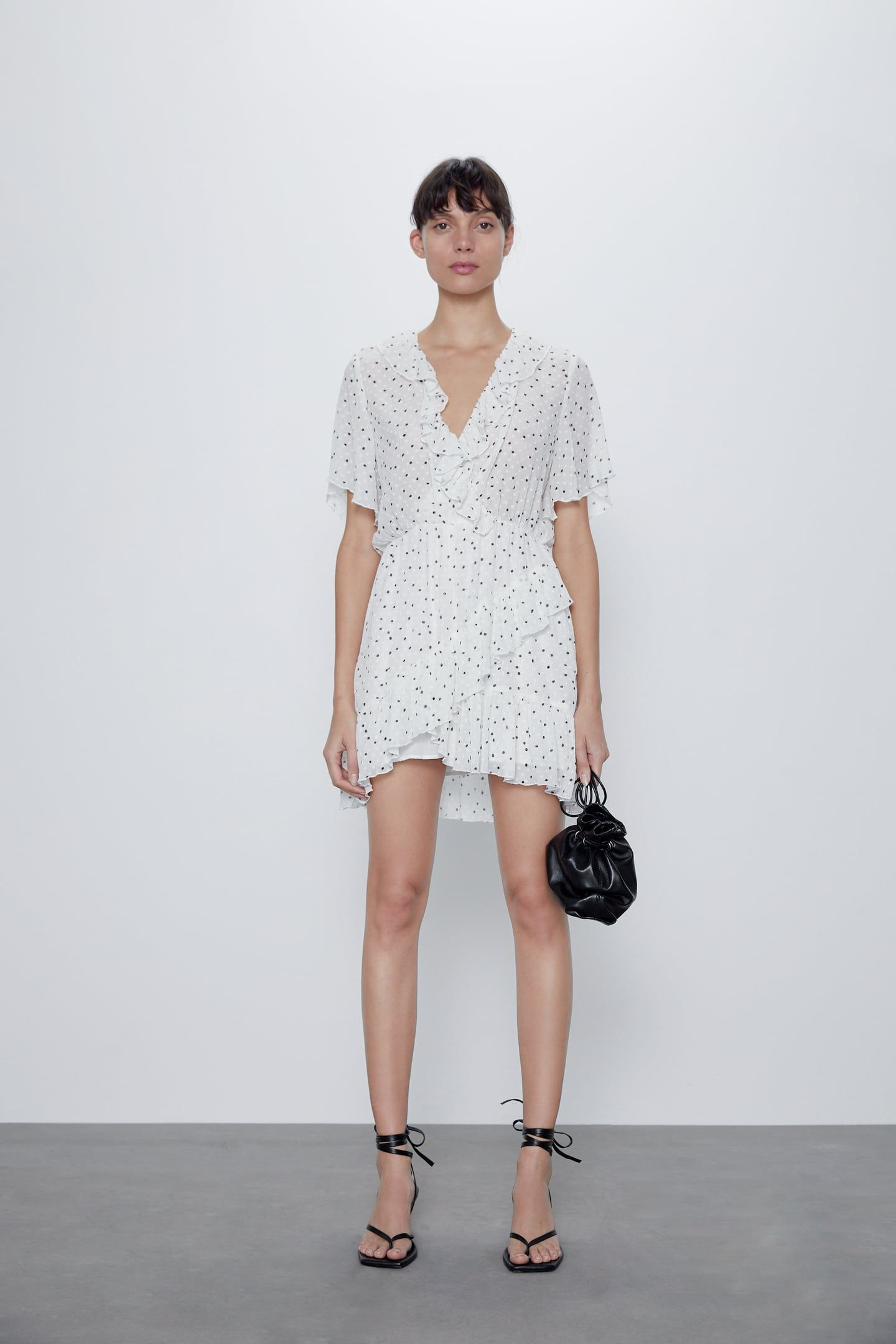 DOTTED MESH PLAYSUIT WITH RUFFLES | ZARA Latvia in 2020 ...