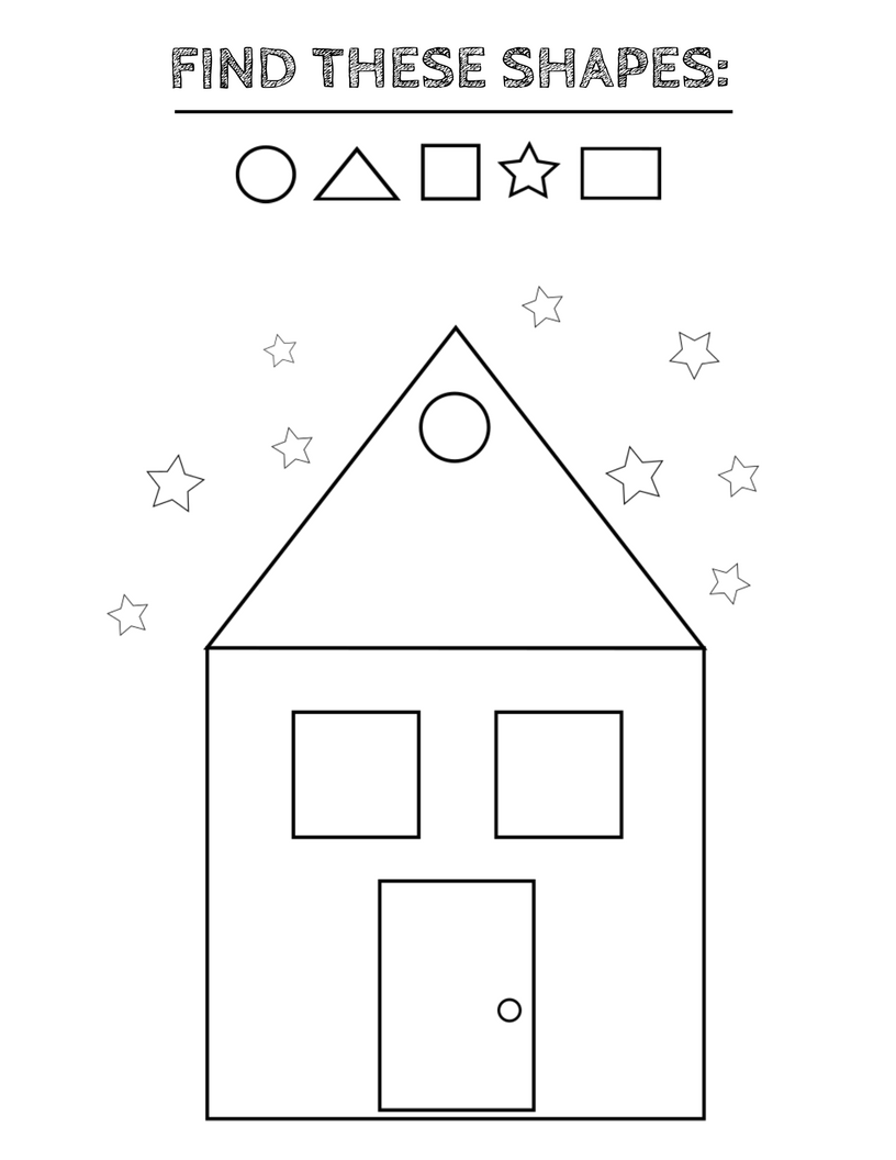 Coloring shapes worksheet - Free Printable Shapes Worksheets Coloring Pages And Tracing Shapes