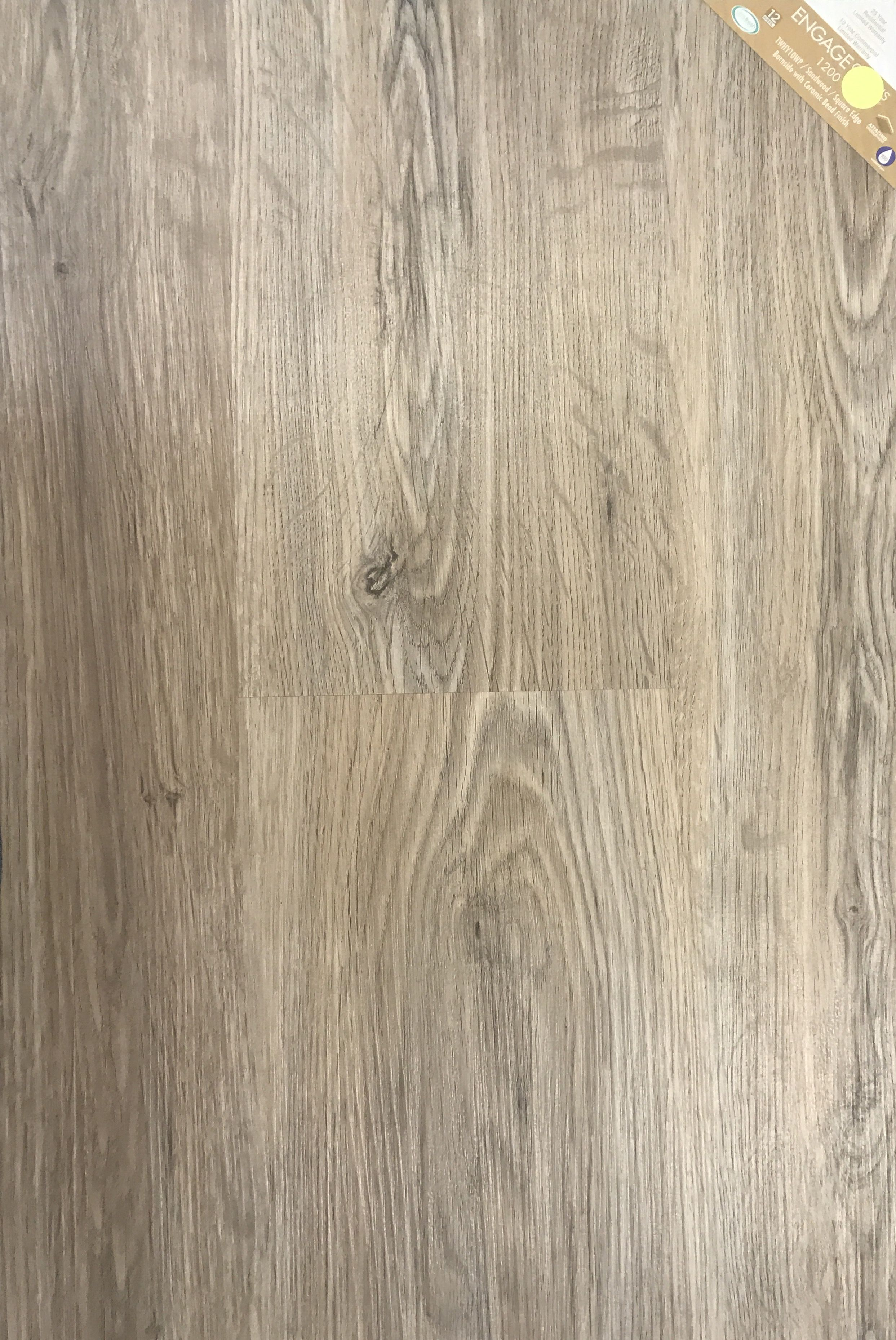 laminated vinyl plank sandwood metroflor engage genesis ke