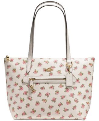 Coach Taylor Tote In Flower Patch Print Coated Canvas Coach Tote