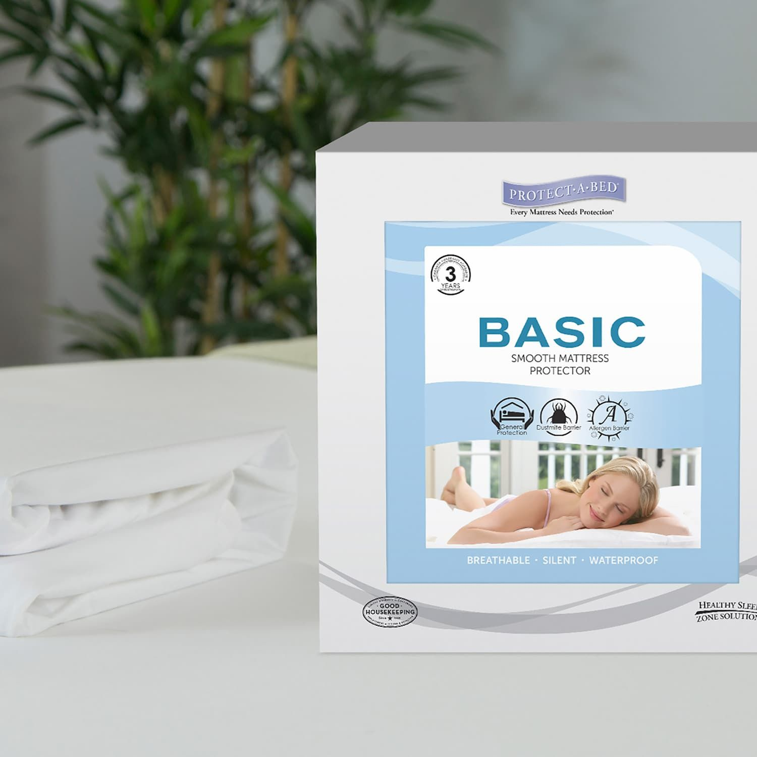 Protect A Bed Basic Smooth Waterproof Mattress Protector Basic Bed Protect Smooth Mattress Protector Mattress Bed Mattress