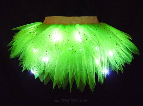 Girls Light Up Tinkerbell Tutu Christmas Fancy Dress Fairy Costume Disney Running Tutus Neon Green Tutu : neon fairy costume  - Germanpascual.Com