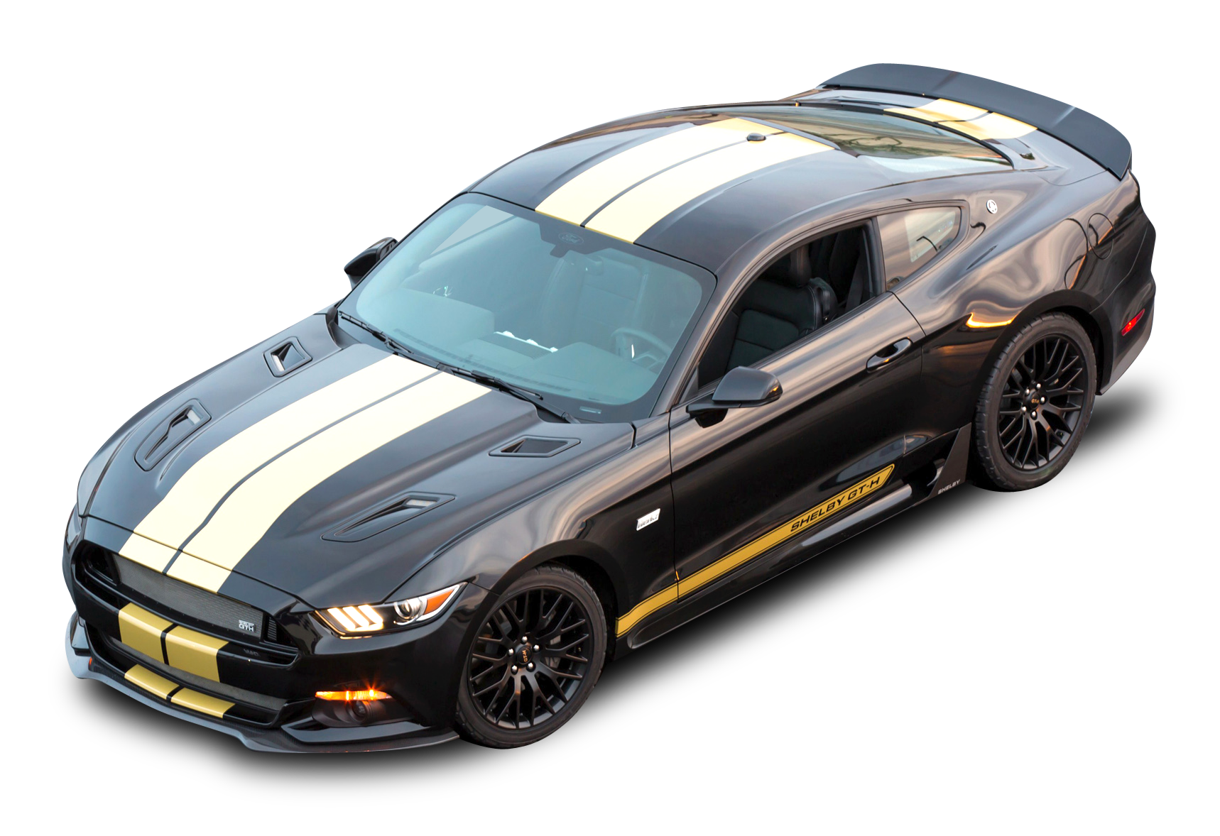 Black Ford Shelby Gt H Top View Car Png Image Ford Shelby Shelby Gt Car