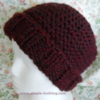 Easy Knit Hat Knitting Ideas Pinterest Easy Knitting Knit