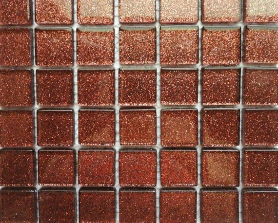 This Is A Set Of 25 Shimmering Metallic Copper Gl Mosaic Tiles That Measure 3