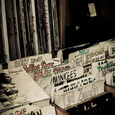 Bins in a record store. This is how I grew up.