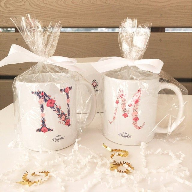 Monogramme Mug Mug lettre initiale Mug Mug de Noël | Etsy