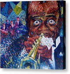 Mr. Jazz Painting by Pedro Brull - Mr. Jazz Fine Art Prints and Posters for Sale