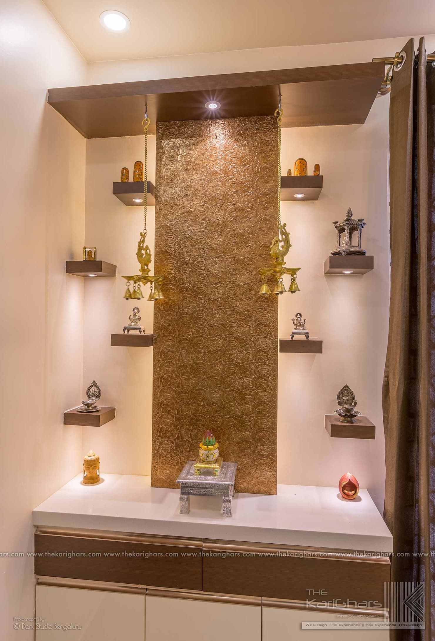 9 Traditional Pooja Room Door Designs In 2020: Pooja Room Designs Classic Style Corridor, Hallway And