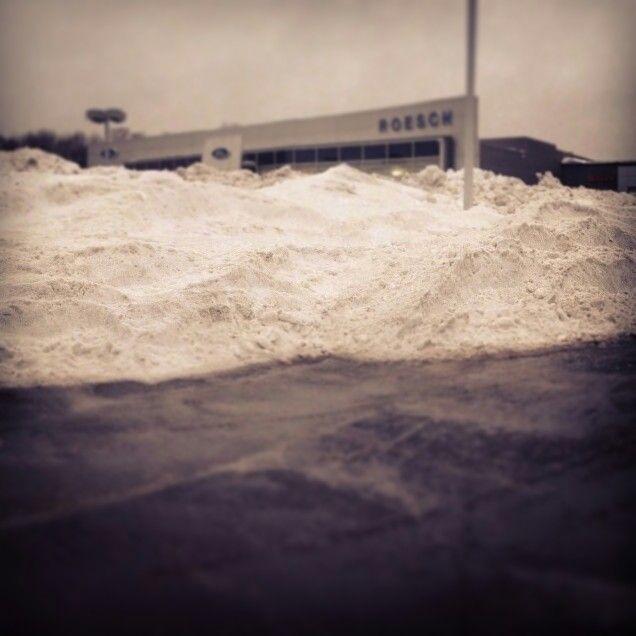 Mountain of snow at #LRVW!