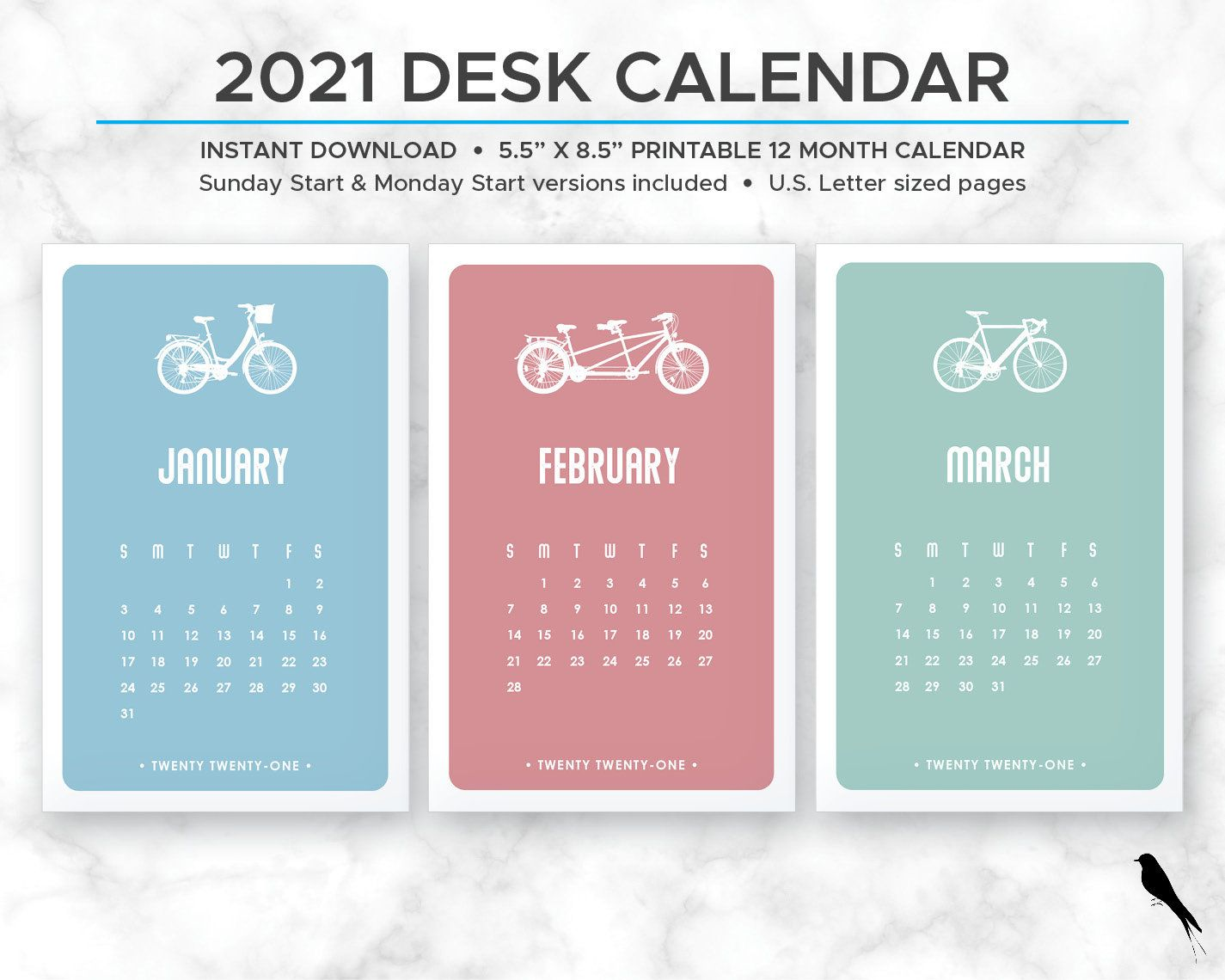 2021 bicycle printable 12 month calendar bike color wall on office wall colors 2021 id=67706