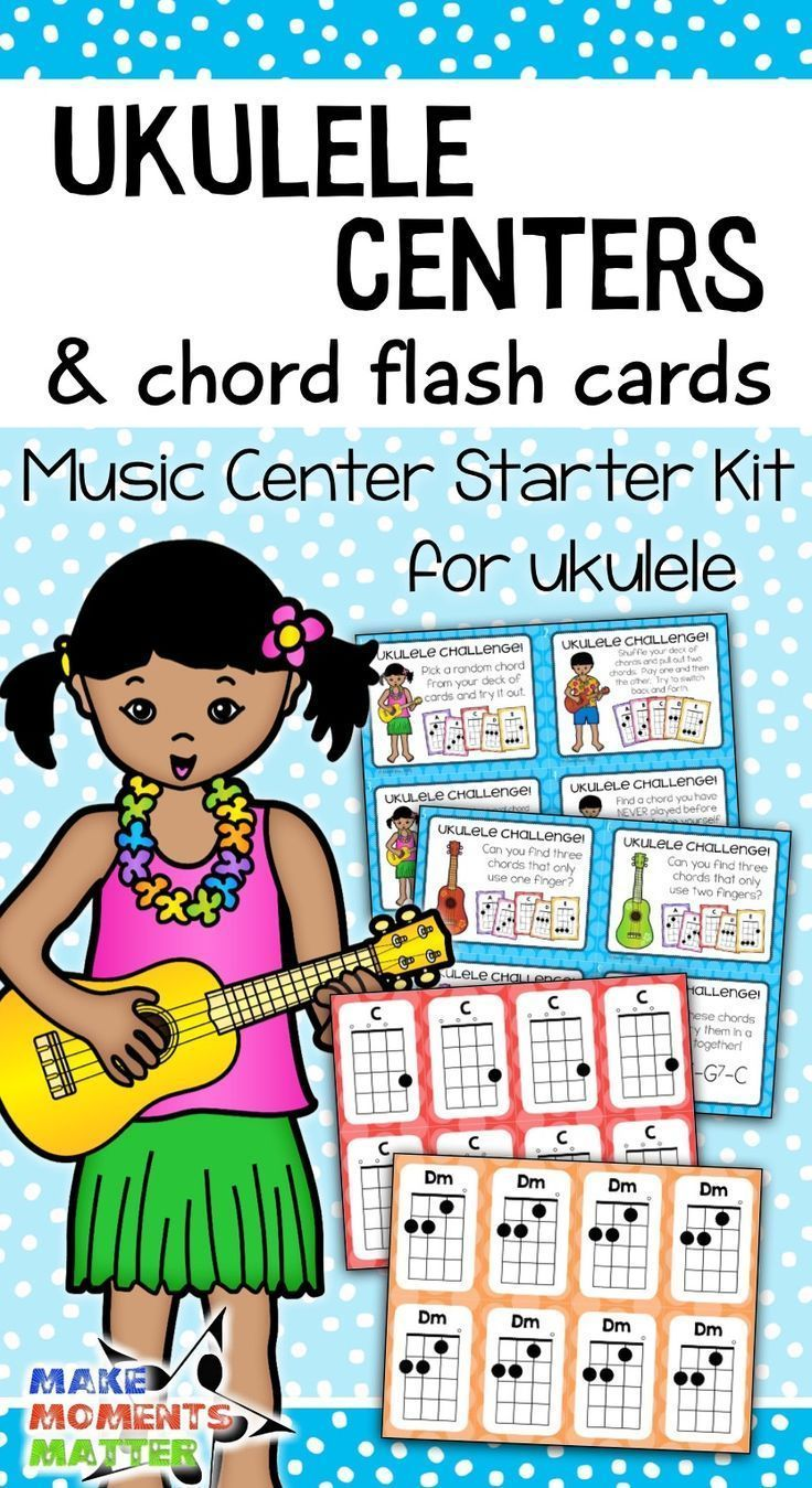 Ukulele Centers And Chord Flash Cards Music Center Starter In 2018
