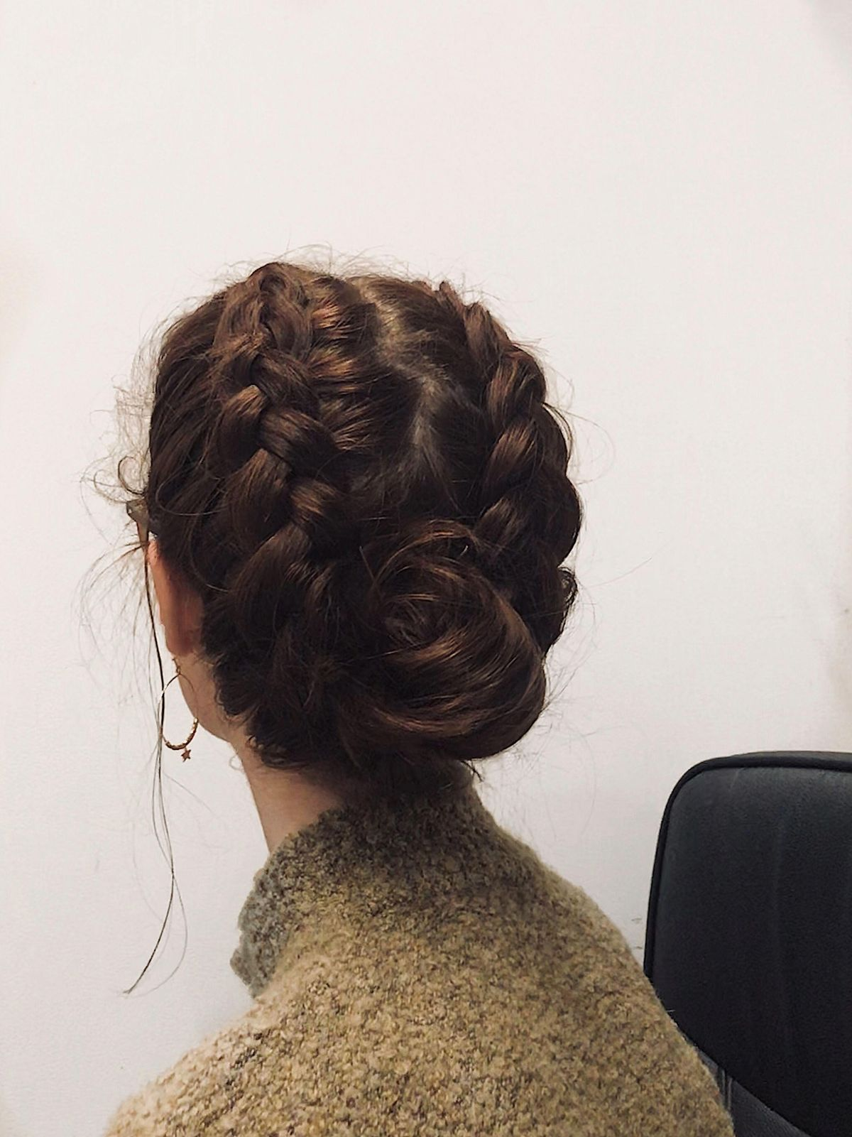 Simple double-dutch braid bun combo, for every day hairstyles #hairbraidingstyles