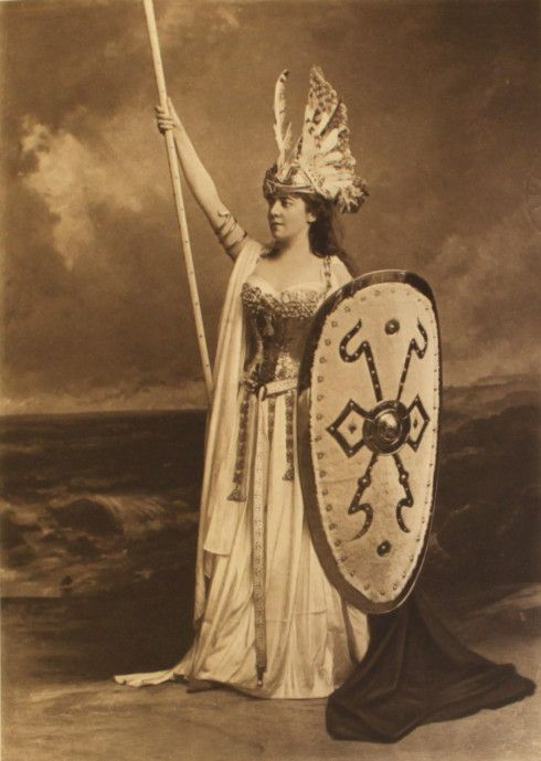 Back to the party: the Duchess of Devonshire's Costume Ball / On the musical front Wagner was still very popular in the 1890s so it is not surprising that there was a Brunhilde (Mrs Leslie):
