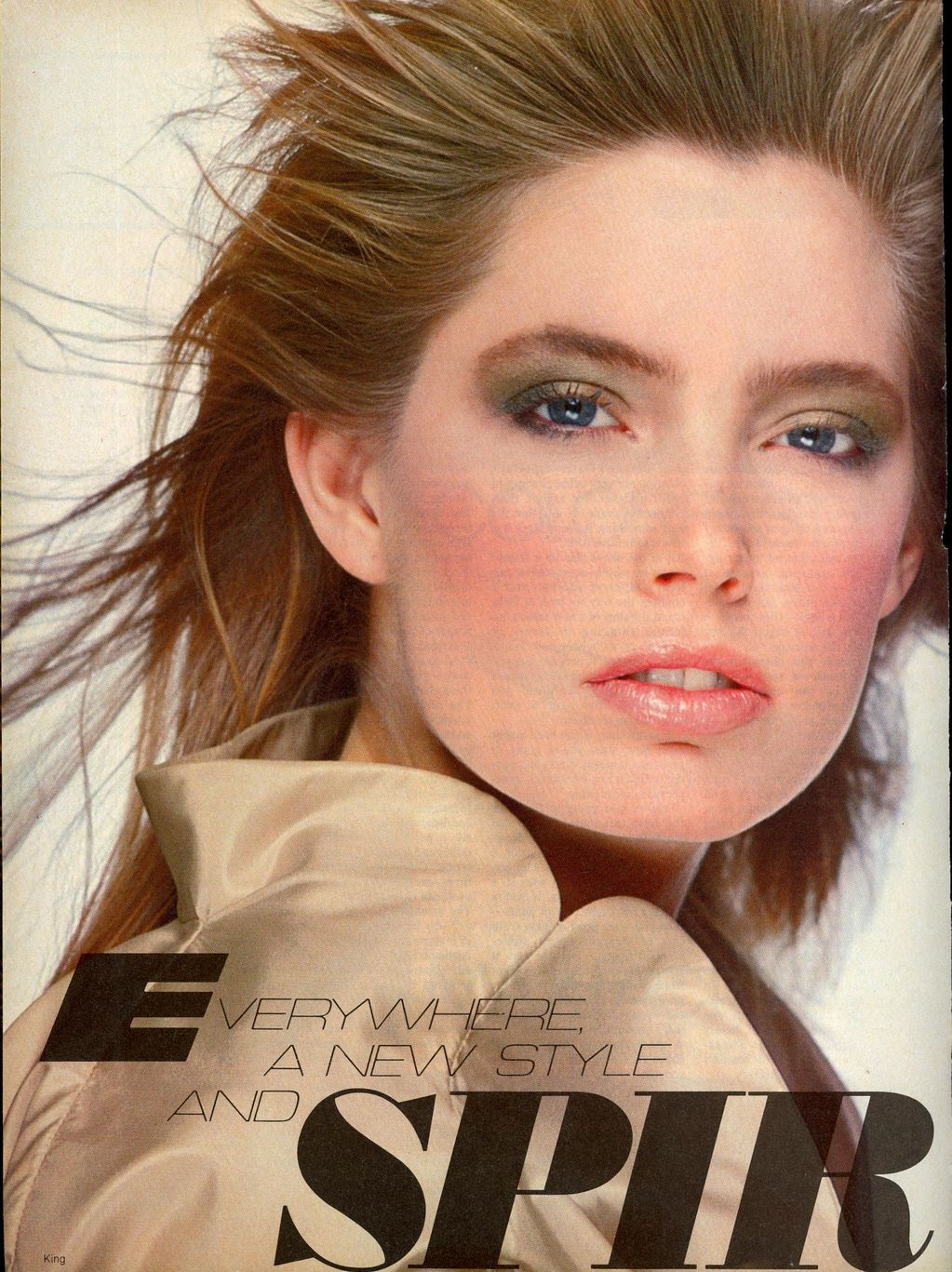 US Vogue March 1982 Everywhere A New Style and Spirit Photo Bill King  Models Kelly Emberg & Terri Farrell