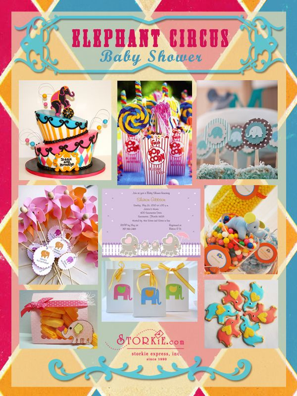Elephant Circus Baby Shower Theme Perfect for Girl or Boy | para ...
