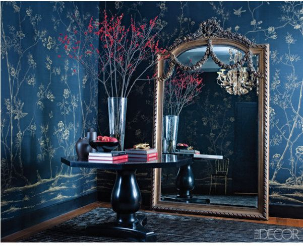 dark blue walls#interiordesign