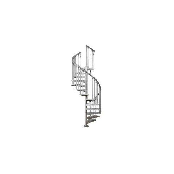 arke eureka spiral staircase kit 5 ft 3 in grey