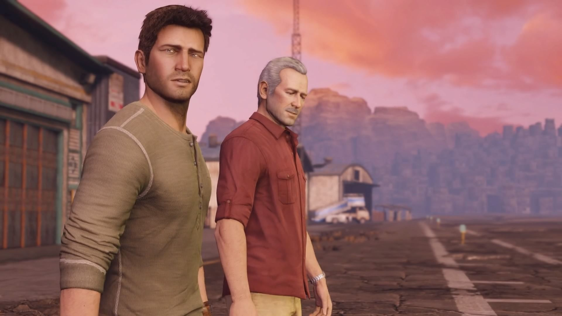 Uncharted 3 - Nate and Sully have been through a lot.