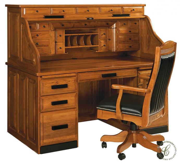 Clarion Custom Roll Top Desk Roll Top Desk Solid Wood Desk