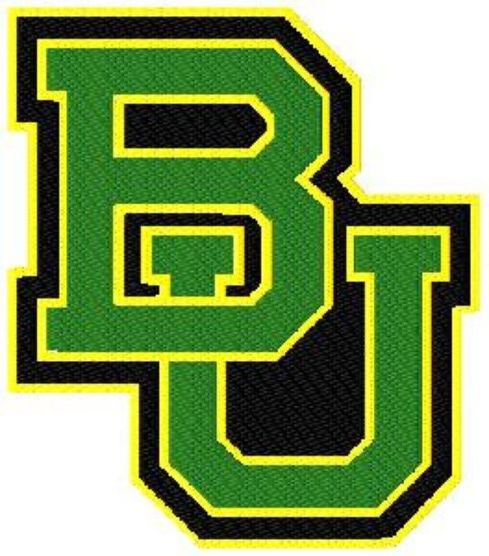 Photo Of 12 Baylor University Applique And Filled Logo Machine Embroidery Design In Tons Of Sizes Baylor Bear Baylor University Baylor